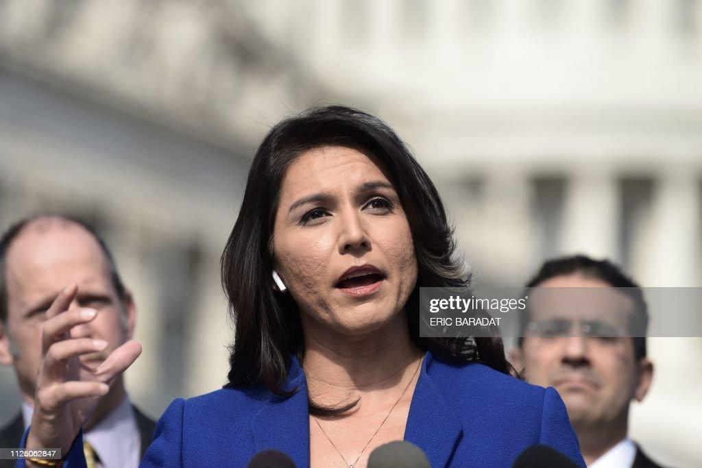 US-POLITICS-VOTE-DEMOCRAT-CANDIDATE-GABBARD : News Photo