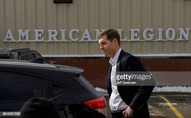 Democrat Conor Lamb a former US attorney and US Marine Corps veterans running to represent Pennsylvania's 18th congressional district leaves the...