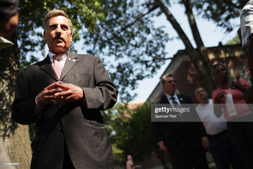Democratic Assemblyman David Weprin, who is running for Congress in a race in New York's heavily Democratic 9th District, speaks with the media at a polling station on September 13, 2011 in the Queens borough of New York City. Weprin is running against Republican Bob Turner to succeed Democrat Anthony Weiner who resigned in June after admitting he sent partially nude photos of himself to women via the Internet. The race has received strong media attention as it is being viewed as a bellwether of support for President Barack Obama and Washington.