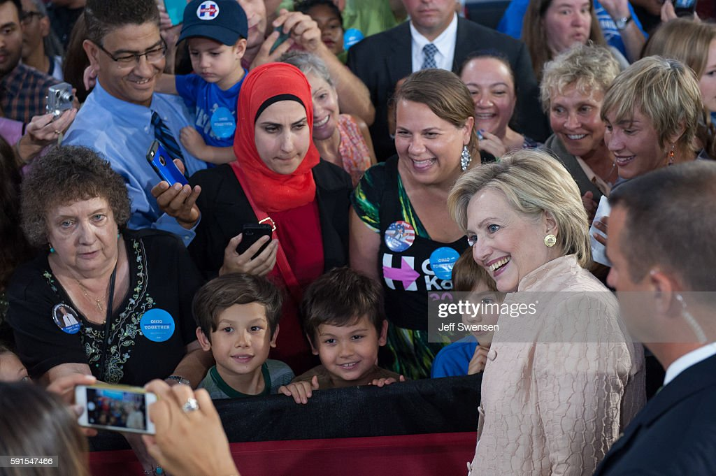 HIllary Clinton Campaigns In Cleveland : News Photo
