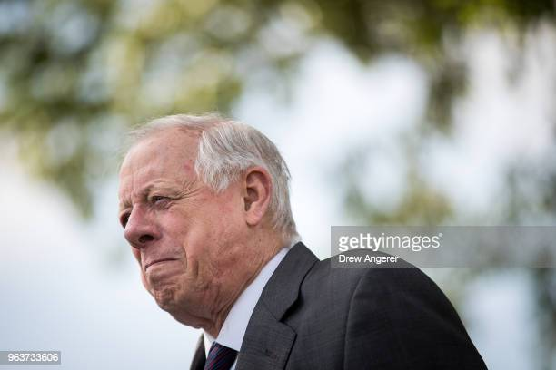 Democratic candidate for US Senate and former governor of Tennessee Phil Bredesen attends a groundbreaking event for a new Tyson Foods chicken...