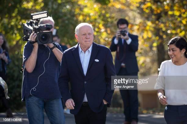 Democratic candidate for US Senate Phil Bredesen exits after voting at Hillsboro Presbyterian Church November 6 2018 in Nashville Tennessee Bredesen...
