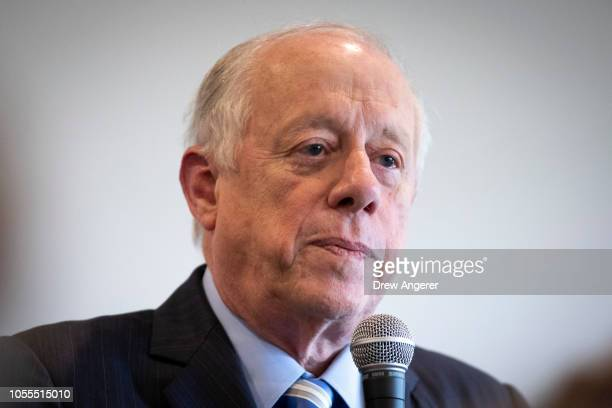 Democratic candidate for US Senate Phil Bredesen speaks during an early vote luncheon at the Westhaven Residents' Club October 30 2018 in Franklin...