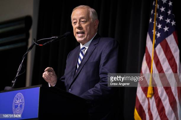 S Democratic candidate for US Senate Phil Bredesen speaks during an interfaith lunch at the Bessie Smith Cultural Center November 4 2018 in...