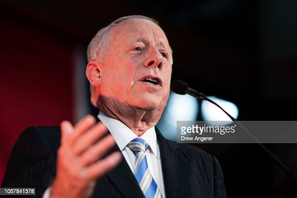Democratic candidate for US Senate Phil Bredesen speaks during his final campaign rally before Tuesday's election at the Nashville Farmers' Market...