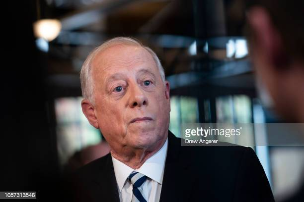 S Democratic candidate for US Senate Phil Bredesen takes questions from reporters following an interfaith lunch at the Bessie Smith Cultural Center...