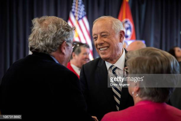 S Democratic candidate for US Senate Phil Bredesen talks with supporters during an interfaith lunch at the Bessie Smith Cultural Center November 4...