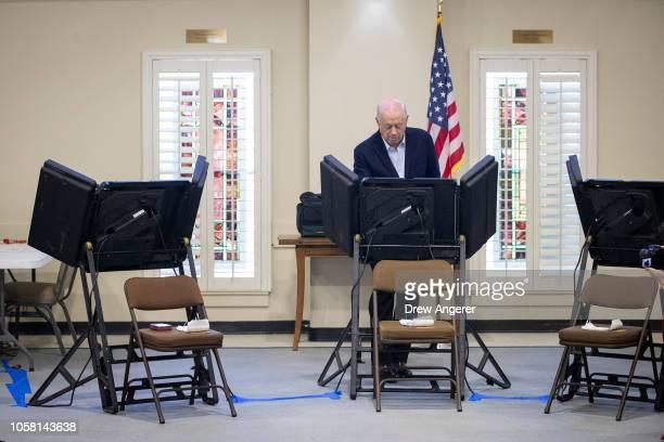 Democratic candidate for US Senate Phil Bredesen votes at Hillsboro Presbyterian Church November 6 2018 in Nashville Tennessee Bredesen a former...