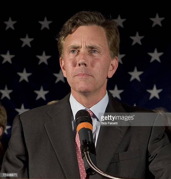 Democratic candidate Ned Lamont concedes to incumbent Sen Joseph I Lieberman at the Sheraton Four Points Hotel November 7 2006 in Meriden Connecticut...