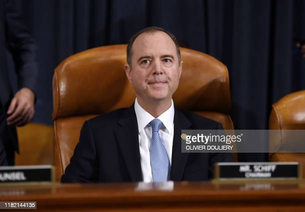 Democratic Chairman of the House Permanent Select Committee on Intelligence Adam Schiff awaits charge d'Affaires at the US embassy in Ukraine Bill...