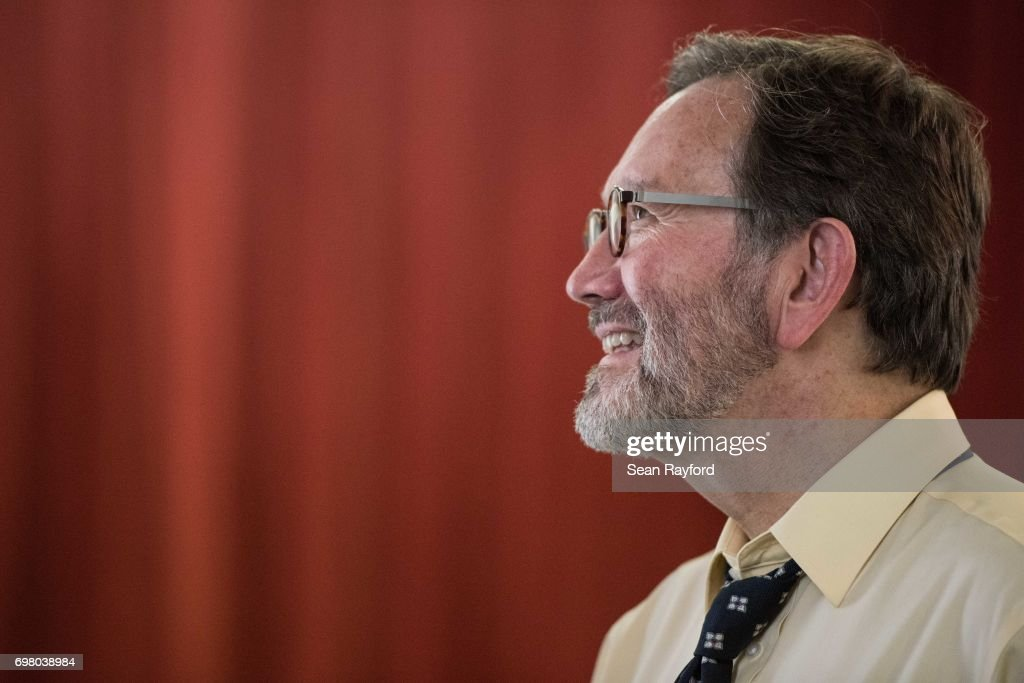 Democratic congressional candidate Archie Parnell listens to a voter June 19, 2017 in Bishopville, South Carolina. Voters will choose between Parnell and Republican candidate Ralph Norman tomorrow in a special election for South Carolina's 5th Congressional District House seat.