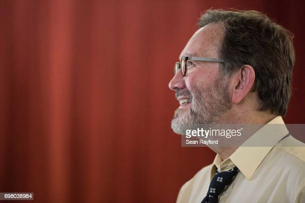 Democratic congressional candidate Archie Parnell listens to a voter June 19 2017 in Bishopville South Carolina Voters will choose between Parnell...