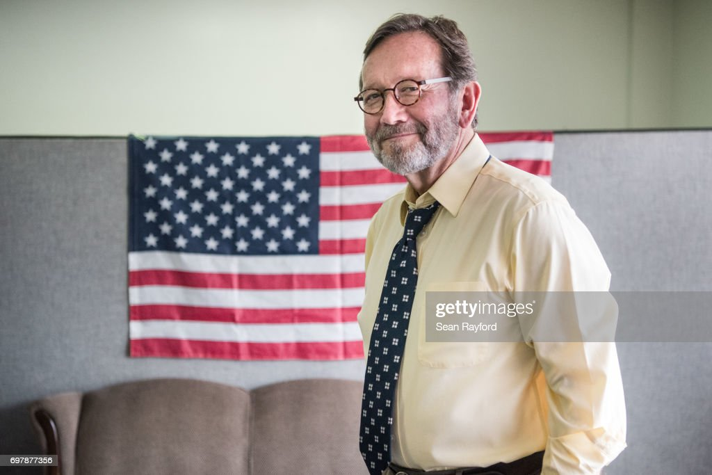 Democratic congressional candidate Archie Parnell stands in the Lee County Democratic campaign offices June 19, 2017 in Bishopville, South Carolina. Voters will choose between Parnell and Republican candidate Ralph Norman tomorrow in a special election for South Carolina's 5th Congressional District House seat.
