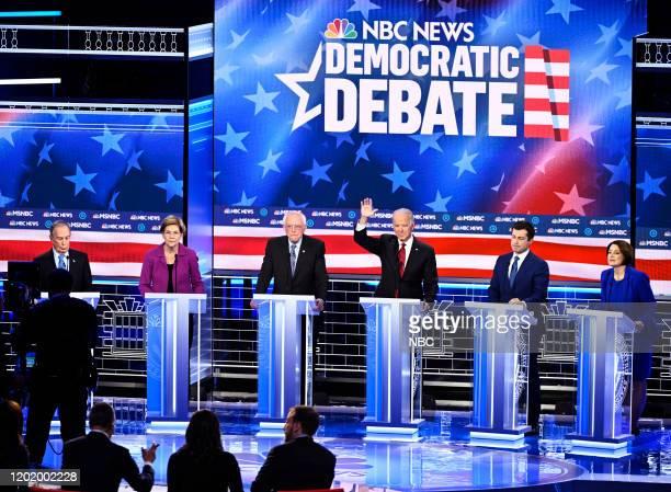 COVERAGE Democratic Debate Las Vegas Pictured Former New York Mayor Mike Bloomberg Sen Elizabeth Warren DMass Sen Bernie Sanders IVt former Vice...