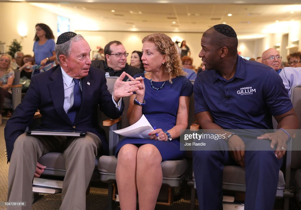 Democratic Candidate For Governor In Florida Andrew Gillum Campaigns In Pembroke Pines, Florida : News Photo