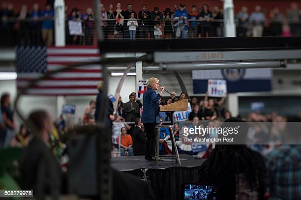 Democratic front runner and Former First Lady and Secretary of State Hillary Clinton holds a campaign rally to discuss her economic agenda at the...