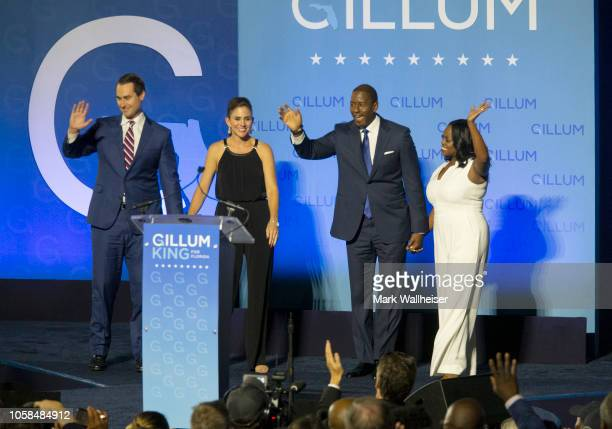 Democratic gubernatorial candidate Andrew Gillum comes onstage to give his concession speech November 6 2018 in Tallahassee Florida Gillum fell short...