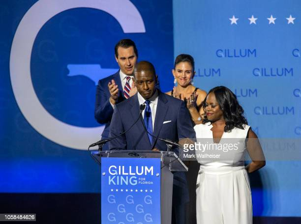 Democratic gubernatorial candidate Andrew Gillum gives his concession speech November 6 2018 in Tallahassee Florida Gillum fell short in his bid...