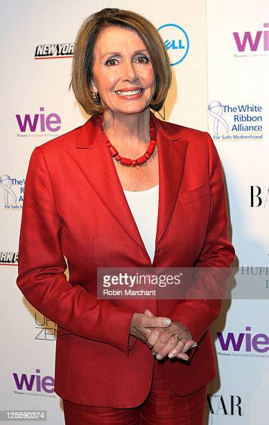 Democratic Leader of the United States House of Representatives and former Speaker of the United States House of Representatives Nancy Pelosi attends...