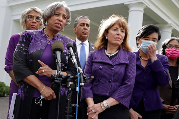DC: House Democrats Speak To The Press After Discussing The Build Back Better Plan With President Biden At The White House
