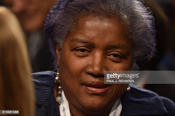 Democratic National Committee Chair Donna Brazile arrives for the third and final US presidential debate between Democratic nominee Hillary Clinton...