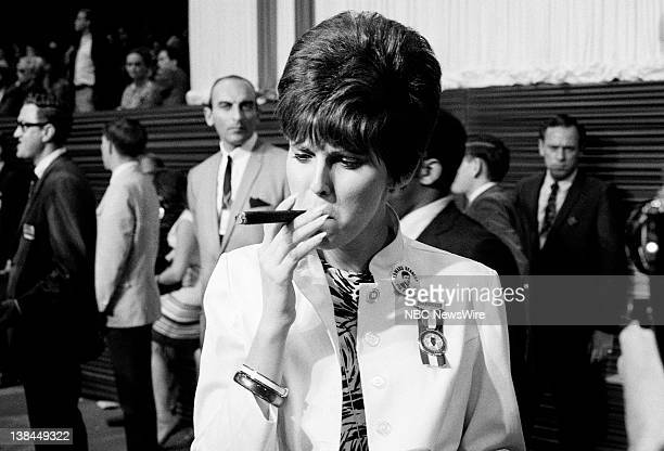 Democratic National Convention Aired Pictured A delegate for Sen Edward Kennedy during the 1968 Democratic National Convention at the International...