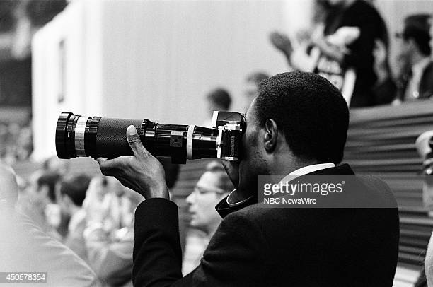 Democratic National Convention Pictured Actor Rafer Johnson during the 1968 Democratic National Convention held at the International Amphitheatre in...