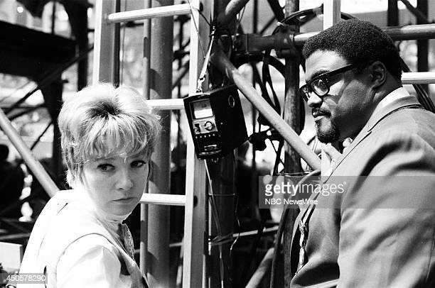 Democratic National Convention Pictured Actors Shirley MacLaine and Rosey Grier during the 1968 Democratic National Convention held at the...