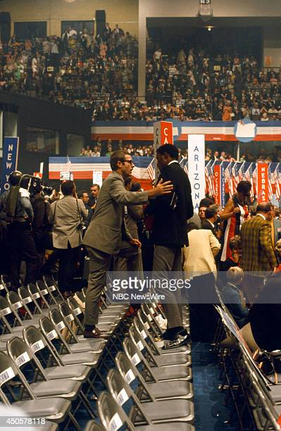 Democratic National Convention Pictured Athlete/actor Rafer Johnson during the 1968 Democratic National Convention held at the International...