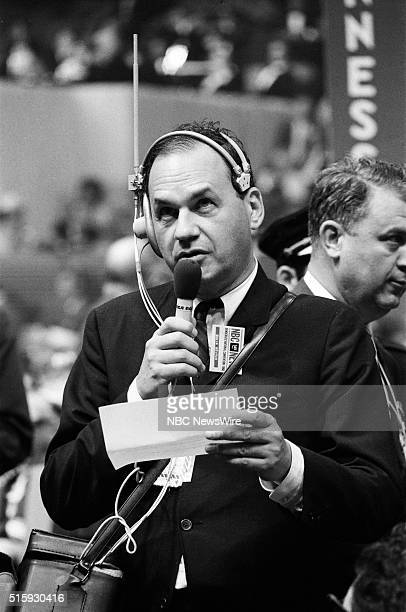 Democratic National Convention Pictured NBC News' Edwin Newman during the 1968 Democratic National Convention held at the International Amphitheatre...