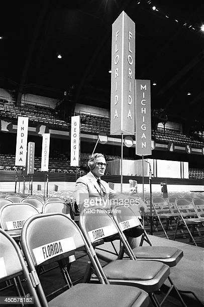 Democratic National Convention Pictured NBC News' Frank McGee during the 1968 Democratic National Convention held at the International Amphitheatre...