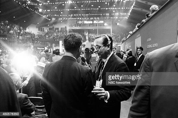 Democratic National Convention Pictured NBC News' John Chancellor during the 1968 Democratic National Convention held at the International...