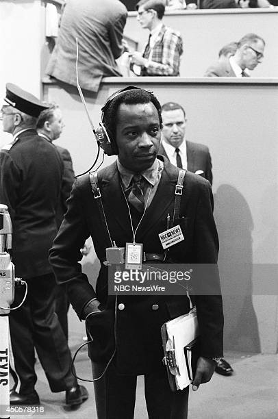 Democratic National Convention Pictured NBC News' Lem Tucker during the 1968 Democratic National Convention held at the International Amphitheatre in...