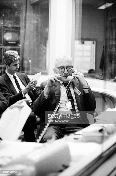 Democratic National Convention Pictured NBC News' Reuven Frank during the 1968 Democratic National Convention held at the International Amphitheatre...