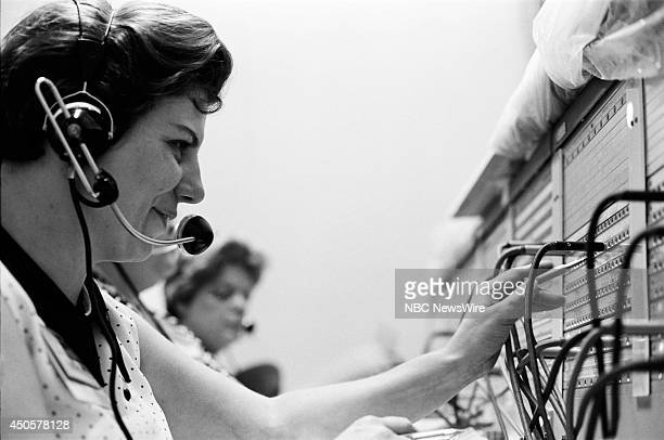 Democratic National Convention Pictured Switch board operator during the 1968 Democratic National Convention held at the International Amphitheatre...