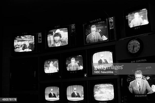 Democratic National Convention Pictured The control room at the 1968 Democratic National Convention held at the International Amphitheatre in Chicago...