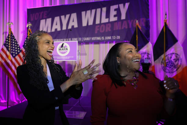 NY: Mayoral Candidate Maya Wiley Holds Primary Night Gathering In Brooklyn