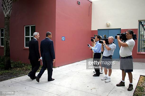 Democratic nominee for Florida Governor Jim Davis and his Democratic nominee for Lt Governor Daryl Jones during a campaign stop October 9 2007 in...
