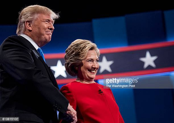 HEMPSTEAD NY Democratic Nominee for President of the United States former Secretary of State Hillary Clinton and Republican Nominee for President of...