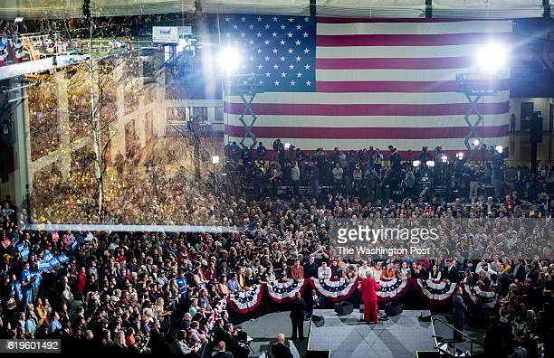 CLEVELAND OH Democratic Nominee for President of the United States former Secretary of State Hillary Clinton speaks to and meets Ohio voters during a...