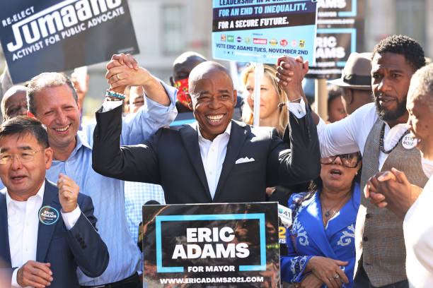NY: Democratic New York City Mayoral Candidate Eric Adams Attends A Get Out The Vote Rally