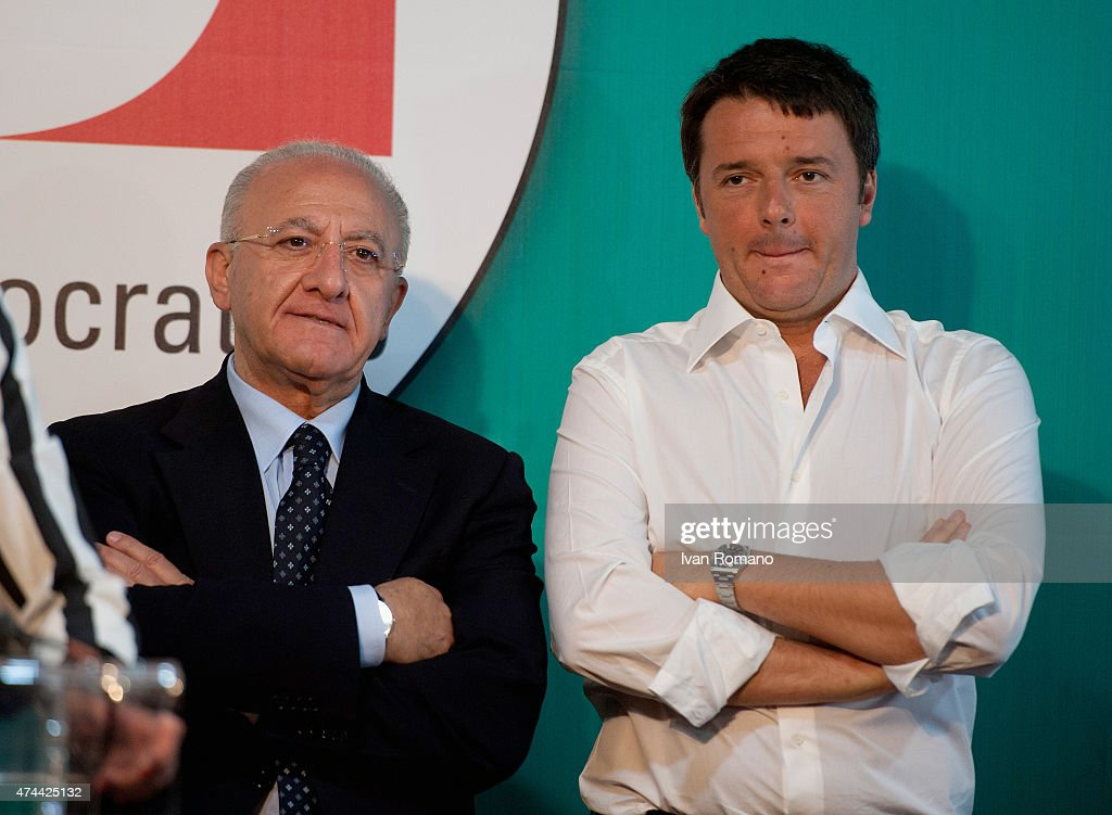 Matteo Renzi Visits Salerno