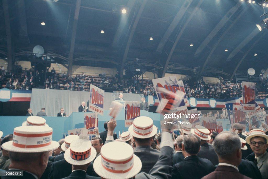 1968 Democratic National Convention : News Photo