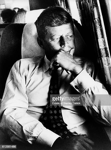 Democratic Party nominated John F Kennedy Senator from Massachusetts on his plane the 'Caroline' on Labor Day