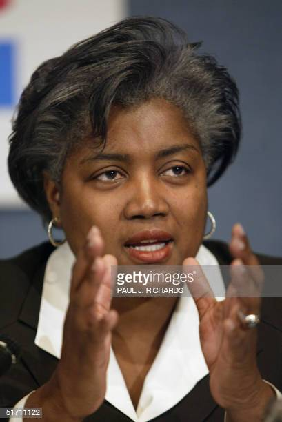 Democratic Party strategist Donna Brazile speaks during a meeting of the Democratic Leadership Council 09 November 2004 in Washington DC The DLC met...
