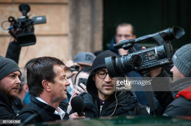 Democratic Party's Giorgio Gori arrives for a party meeting in Rome Monday March 12 2018 Former Italian Premier Matteo Renzi has formally resigned as...