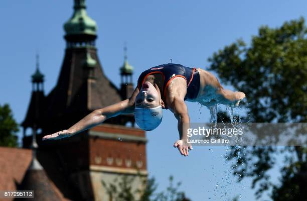 Democratic Peoples Republic of Korea train on day five of the Budapest 2017 FINA World Championships on July 18 2017 in Budapest Hungary