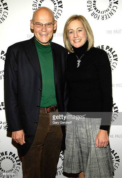 Democratic political consultant, James Carville , and former White House Press Secretary for President Clinton, Dee Dee Myers, attend the premiere of...