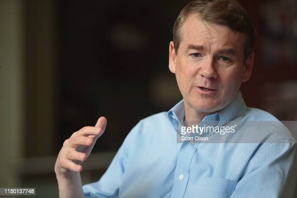 Democratic presidential candidate and Colorado Senator Michael Bennet speaks to guests during a campaign stop hosted by the Woodbury County Democrats...