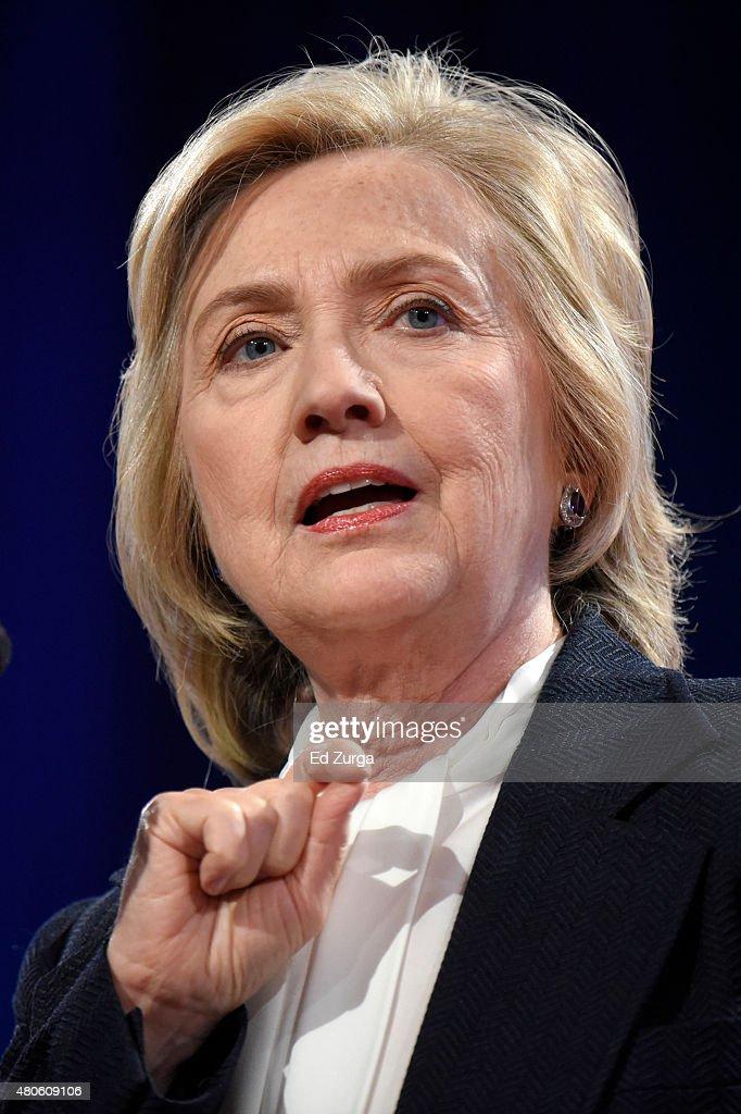 Hillary Clinton Addresses National Council of La Raza Conference : News Photo